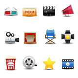 Movie icons. This image is a vector illustration.movie icons Royalty Free Stock Photography