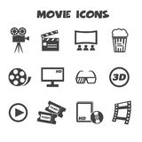 Movie icons vector illustration