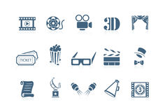 Movie icons | piccolo series. Set of 12 movie icons | piccolo series Royalty Free Stock Photo