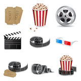 Movie icons. Set of detailed movie icons. EPS10 vector vector illustration