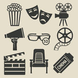 Movie icons set Stock Photo