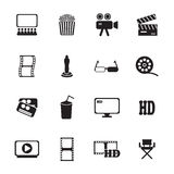 Movie icons set Royalty Free Stock Photos