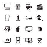 Movie icons set. Vector Royalty Free Stock Photos