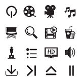 Movie icons set. Vector illustration graphic design symbol Royalty Free Stock Image