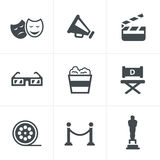 Movie Icons Vector design Royalty Free Stock Photography