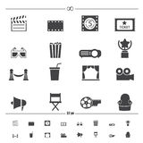 Movie icons vector Royalty Free Stock Images