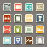 Movie icons vector Stock Images