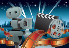 Movie illustration Stock Photo