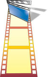 Movie industryr (with ai file). Clip board and film from movie industry Royalty Free Stock Images