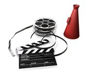 Movie items Royalty Free Stock Photo