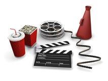Movie items stock illustration