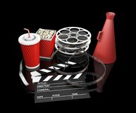 Movie items Stock Images