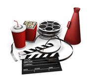 Movie items Stock Image