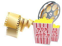 Movie items. Isolated ,abstract background stock illustration