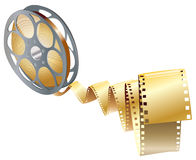 Movie items. Isolated ,abstract background Stock Photos