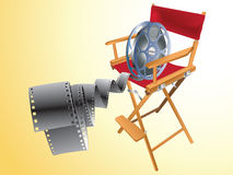 Movie items. Isolated ,abstract background Stock Photography