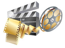 Movie items. Isolated ,abstract background Royalty Free Stock Images