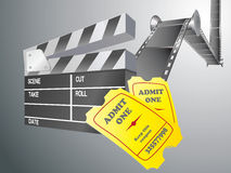 Movie items. Isolated ,abstract background Stock Images