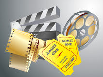 Movie items. Isolated ,abstract background Royalty Free Stock Image