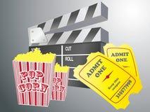 Movie items Royalty Free Stock Image