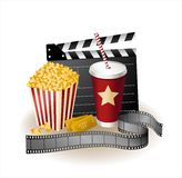 Movie items stock illustration