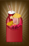 Movie items medallion Stock Photo
