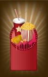 Movie items medallion Stock Photo