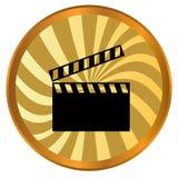 Movie logo. New movie logo on a white background Stock Photo