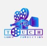 Cinematography retro logo. Movie logo background vector eps Royalty Free Stock Photo