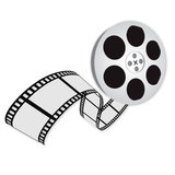 A movie logo Royalty Free Stock Image