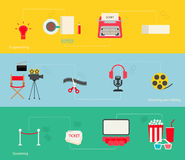 Movie making icons set Stock Photos