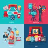 Movie Making Icons Set Stock Photography