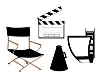 Movie Making Set Royalty Free Stock Photo