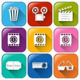 Movie marathon icons Stock Photos