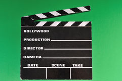 Movie marker clapper board Stock Photo