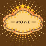 Movie marque. Stock Photos