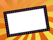 Movie marquee. Blank movie, theater or casino marquee Royalty Free Stock Photos