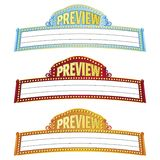 Movie Marquees. Illustration with clipping path. Additional Adobe Illustrator 8 eps file available Stock Photos