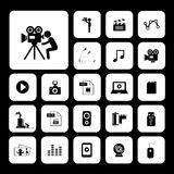 Movie and media icon set Stock Image