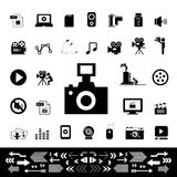 Movie and media icon Stock Photography