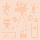 Movie and music icons Stock Photos
