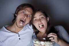 Movie night Royalty Free Stock Image