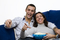 Movie night Royalty Free Stock Photography