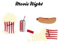 Movie Night with all the trimmings.. Stock Photo