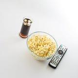 Movie Night At Home Stock Photo