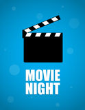 Movie night background Royalty Free Stock Photo