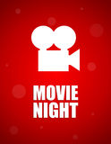 Movie night background. Dotted movie night red background,  illustration, eps10 Royalty Free Stock Images