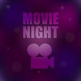 Movie night background Stock Photos