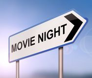 Movie night concept. Royalty Free Stock Photography