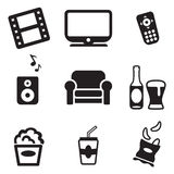 Movie Night Icons Stock Image